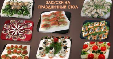 Закуски на праздничный стол 2021 — простые и вкусные рецепты